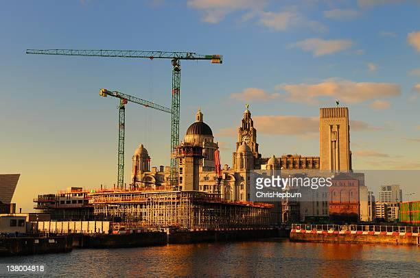 Liverpool Landmarks at dusk