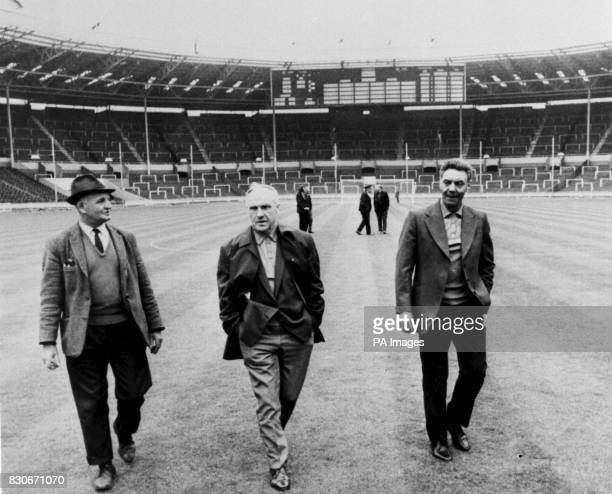 Liverpool Manager Bill Shankly and Trainer Joe Fagan accompanied by a Wembley Stadium groundsman The former Liverpool manager Joe Fagan has died...