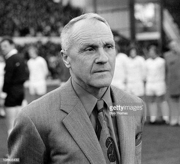 Liverpool manager Bill Shankly at Anfield before his Testimonial Match on 29th April 1975