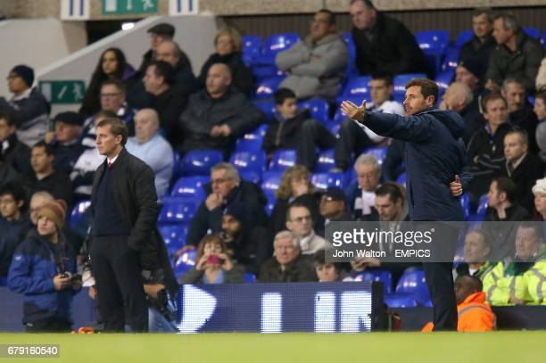 Liverpool manager Brendan Rodgers and Tottenham Hotspur manager Andre VillasBoas on the touchline