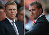 COMPOSITE OF TWO IMAGES Image Numbers 177996038 and 150795011 In this composite image a comparison has been made between David Moyes Manger of...