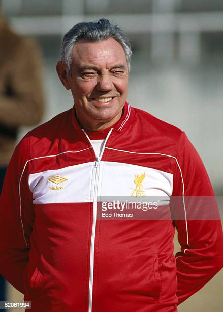 Liverpool Manager Joe Fagan watching their training session in Tokyo prior to the World Club Championship match against Independiente December 1984