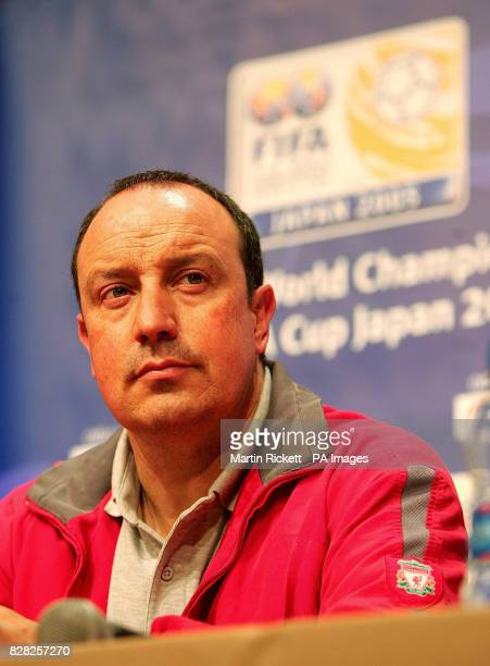 Liverpool manager Rafael Benitez during a press conference at the Royal Park hotel in Yokahama Japan Monday December 12 2005 Liverpool will play the...