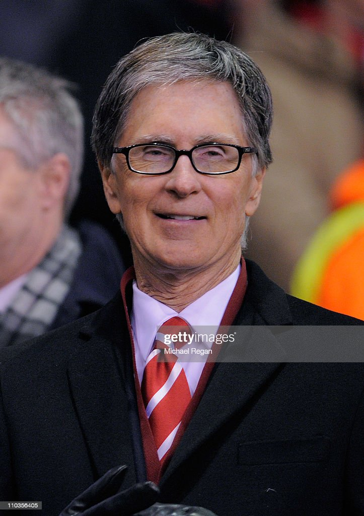 Liverpool owner John W Henry looks on ahead of the UEFA Europa League Round of 16 second leg match between Liverpool and SC Braga at Anfield on March 17, 2011 in Liverpool, England.