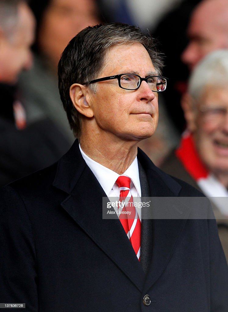 Liverpool owner John W Henry looks on during the FA Cup Fourth Round match between Liverpool and Manchester United at Anfield on January 28, 2012 in Liverpool, England.