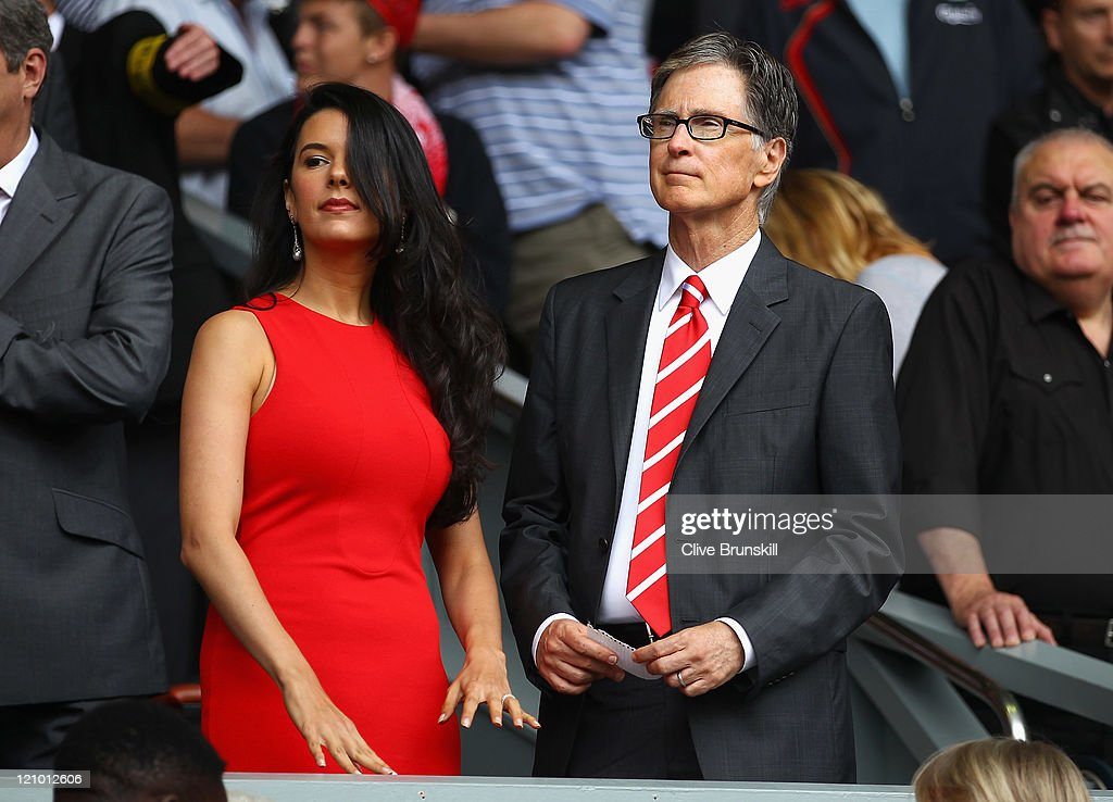Liverpool owner John W Henry with his wife Linda ahead of the Barclays Premier League match between Liverpool and Sunderland at Anfield on August 13, 2011 in Liverpool, England.