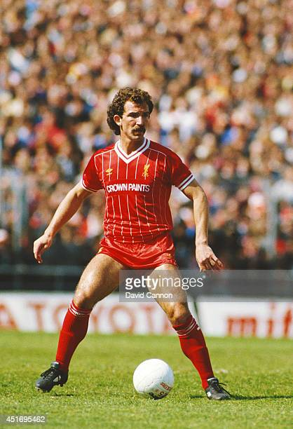 Liverpool player Graeme Souness on the ball during a League Division One match between Notts County and Liverpool at Meadow Lane on May 12 1984 in...