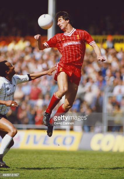 Liverpool player Ian Rush is challenged by Pedro Richardsof Notts County during a League Division One match between Notts County and Liverpool at...