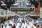 'Liverpool Street Station at Rush Hour, Motion Blur, London, UK'