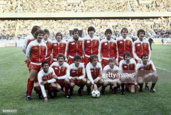 Liverpool team group taken before the European Cup Final between Liverpool and Real Madrid held on May 27 1981 at the Parc des Princes in Paris...