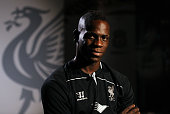 Liverpool Unveil New Signing Mario Balotelli at Melwood today on August 25 2014 in Liverpool England
