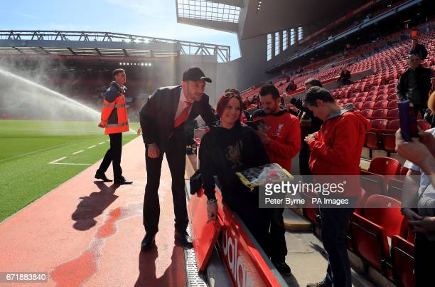 Liverpool's Adam Lallana before the Premier League match at Anfield Liverpool