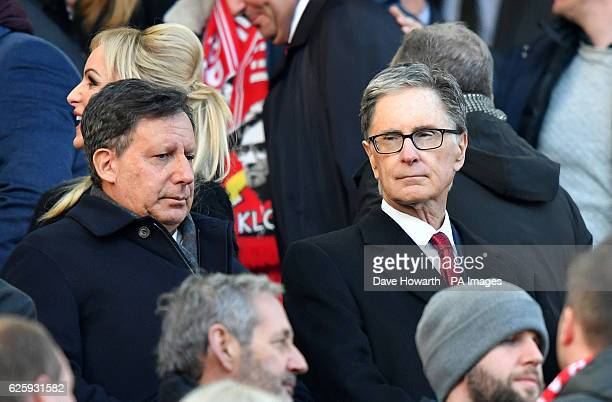 Liverpool's coowners Tom Werner and John W Henry in the stands before the game