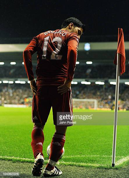 Liverpool's Daniel Pacheco during the Carling Cup 3rd round game between Liverpool and Northampton Town at Anfield on September 22 2010 in Liverpool...