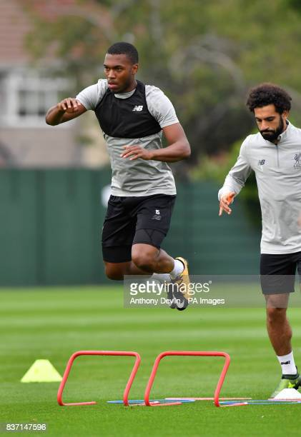 Liverpool's Daniel Sturridge during a training session at Melwood Training Ground Liverpool