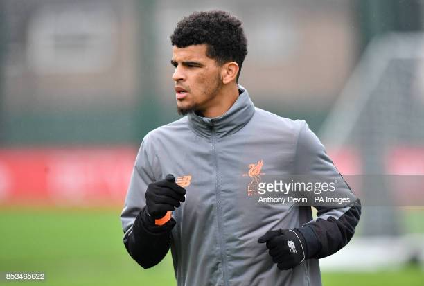 Liverpool's Dominic Solanke during the training session at Melwood Liverpool