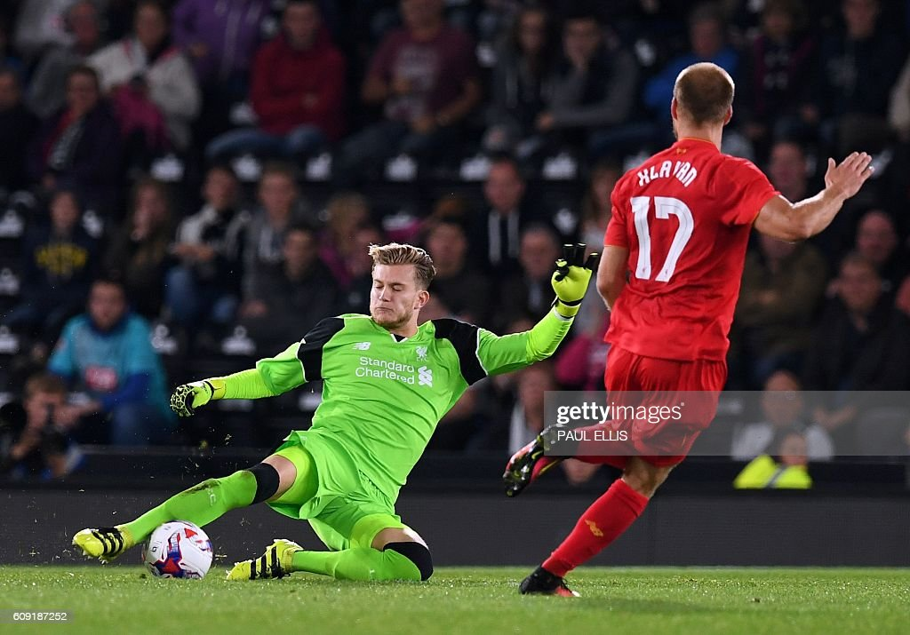FBL-ENG-LCUP-DERBY-LIVERPOOL : News Photo