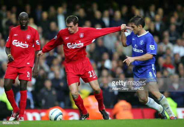 Liverpool's Jamie Carragher and Chelsea's Frank Lampard