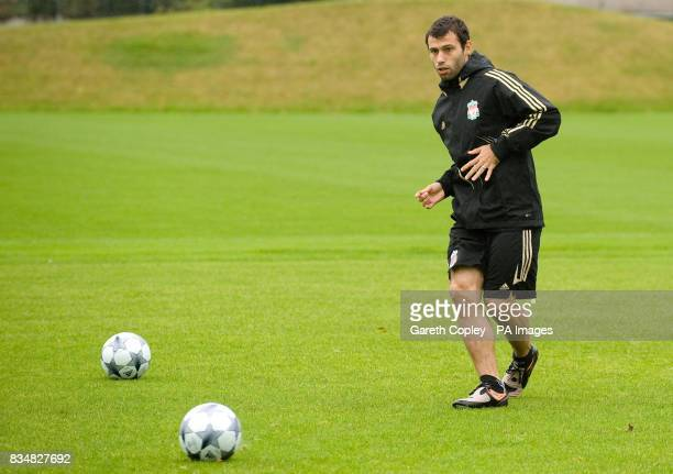 Liverpool's Javier Mascherano during the training session at Melwood Liverpool
