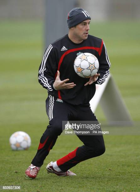 Liverpool's Jose Reina during a training session at Melwood Training Ground Liverpool