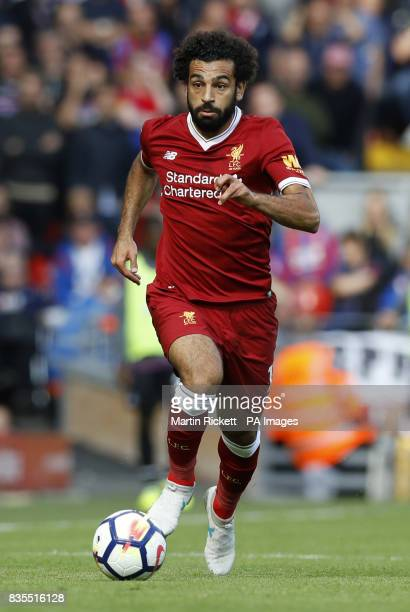 Liverpool's Mohamed Salah during the Premier League match at Anfield Liverpool