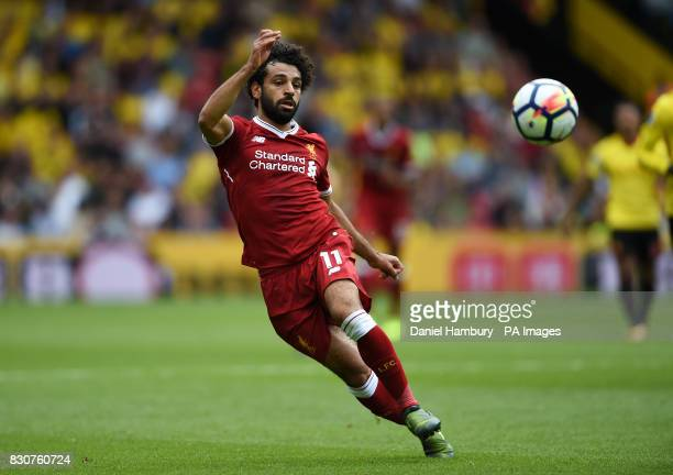 Liverpool's Mohamed Salah during the Premier League match at Vicarage Road Watford