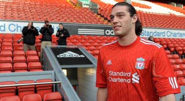 Liverpool's new signing English striker : News Photo