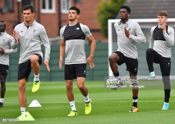Liverpool's Ovie Ejaria during a training session at Melwood Training Ground Liverpool