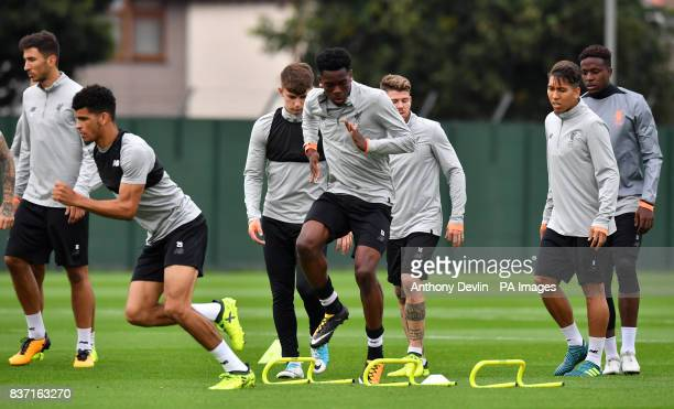 Liverpool's Ovie Ejaria during a training session at Melwood Training Ground Liverpool PRESS ASSOCIATION Photo Picture date Tuesday August 22 2017...