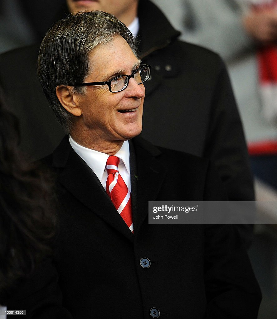 Liverpool's owner John W Henry smiles during the Barclays Premier League match between Liverpool and Chelsea at Anfield on November 7, 2010 in Liverpool, England.