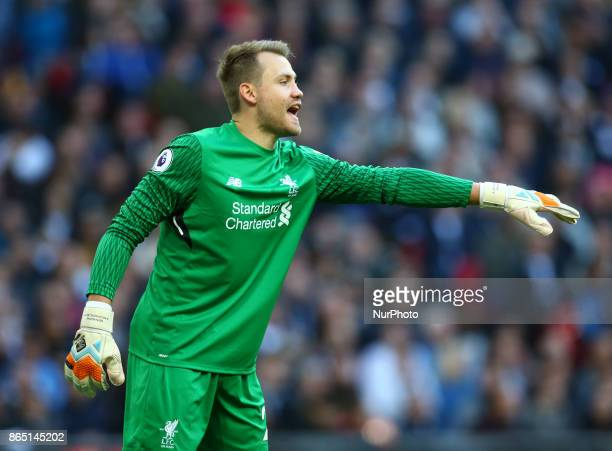 Liverpool's Simon Mignolet during Premier League match between Tottenham Hotspur and Liverpool at Wembley Stadium London 22 Oct 2017
