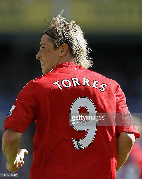 Liverpool's Spanish striker Fernando Torres during their English Premier League match against Tottenham Hotspur at White Hart Lane London England on...