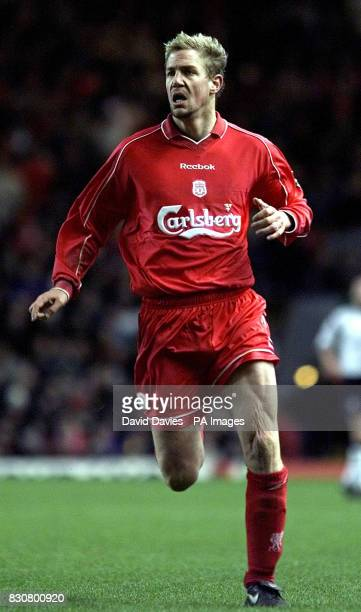 Liverpool's Stephane Henchoz in action in the FA Barclaycard Premiership game between Liverpool *16/09/02 Liverpool's Stephane Henchoz in action...