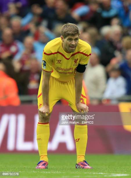 Liverpool's Steven Gerrard dejected after the match