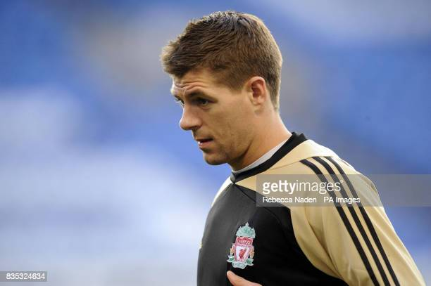 Liverpool's Steven Gerrard during a Training Session at Stamford Bridge London