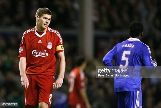Liverpool's Steven Gerrard stands dejected during the second half