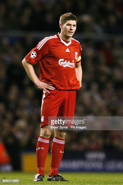 Liverpool's Steven Gerrard stands with his hands on hips during the second half