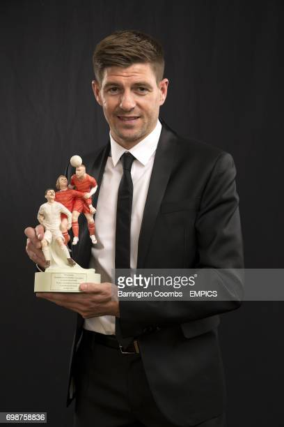 Liverpool's Steven Gerrard with the PFA's Merit Award