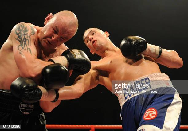 Liverpool's Tony Bellew in action against Featherstone's Paul Bonson during the Cruiserweight fight at Bolton Arena Bolton