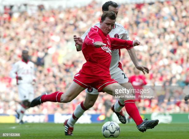 Liverpool's Vladimir Smicer shoots past Charlton's Jorge Costa during the Barclaycard Premiership match at Anfield Liverpool Final score Liverpool 2...