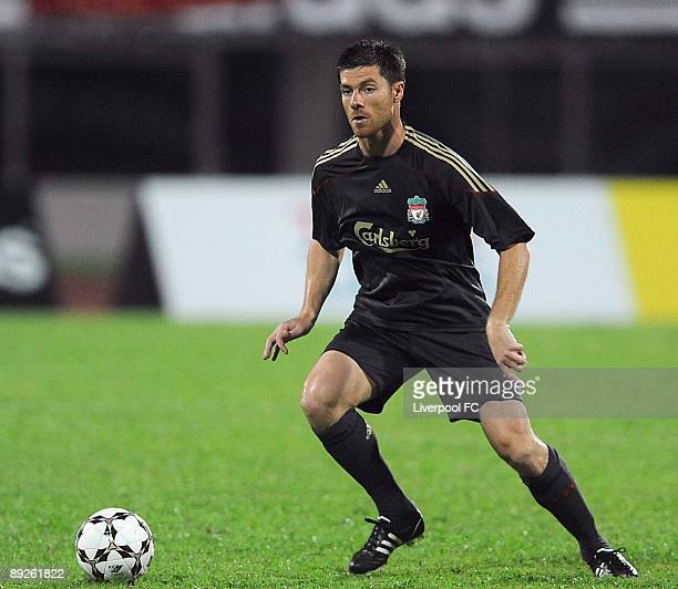 Liverpool's Xabi Alonso back in action during the preseason friendly match betweem Singapore and Liverpool at Singapore National Stadium on July 26...