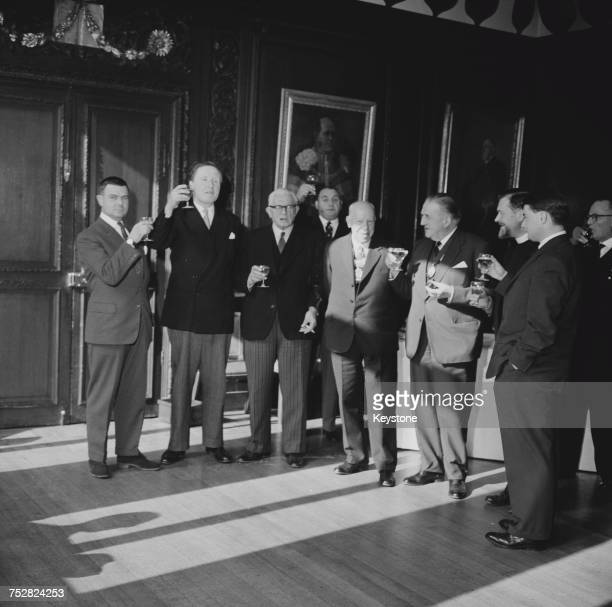 Liverymen of the Stationers' Company at the Stationers' Hall in the City of London for their annual gift of cakes and ale 27th February 1963 The...