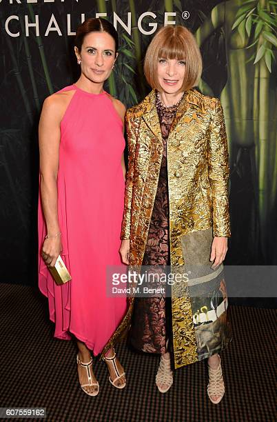 Livia Firth and Anna Wintour attend the Green Carpet Challenge 2016 BAFTA Night to Remember on September 18 2016 in London England