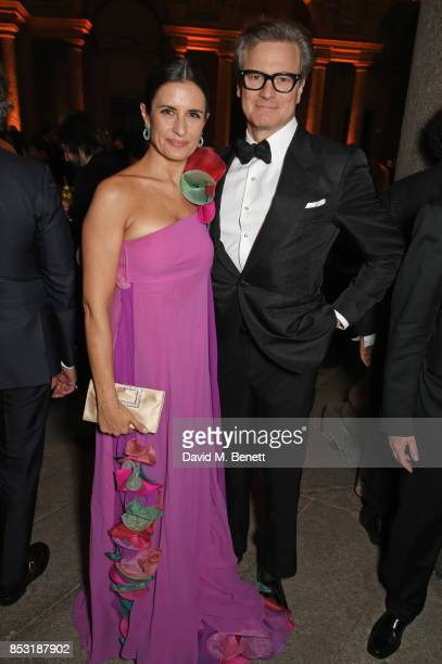 Livia Firth and Colin Firth attend a private dinner hosted by Livia Firth following the Green Carpet Fashion Awards Italia at Palazzo Marino on...