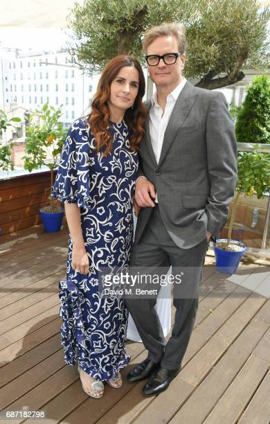 Livia Firth and Colin Firth attend a private lunch hosted by Colin Livia Firth and Caroline Scheufele celebrating Chopard and the Journey to...