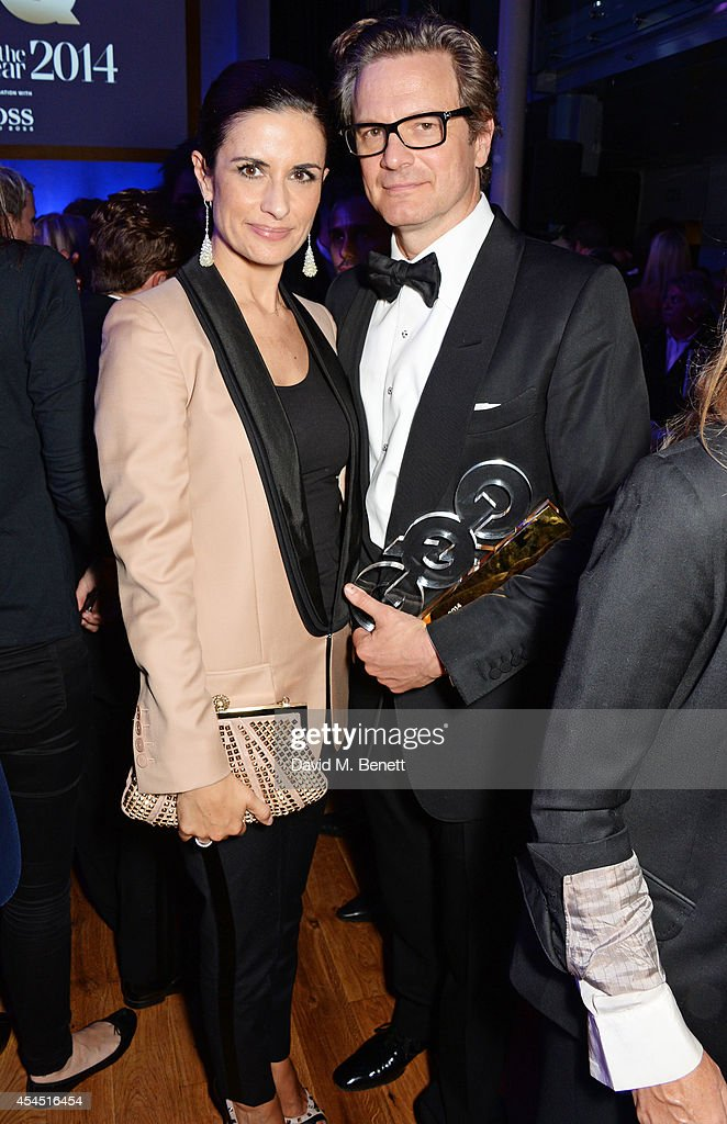 Livia Firth (L) and <a gi-track='captionPersonalityLinkClicked' href=/galleries/search?phrase=Colin+Firth&family=editorial&specificpeople=201620 ng-click='$event.stopPropagation()'>Colin Firth</a> attend an after party following the GQ Men Of The Year awards in association with Hugo Boss at The Royal Opera House on September 2, 2014 in London, England.