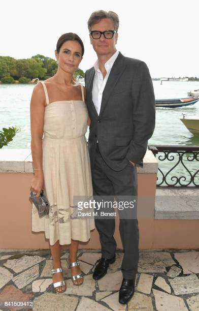 Livia Firth and Colin Firth attend an intimate lunch hosted by Livia Firth Carlo Capasa and Caroline Scheufele to announce Chopard as partner for The...