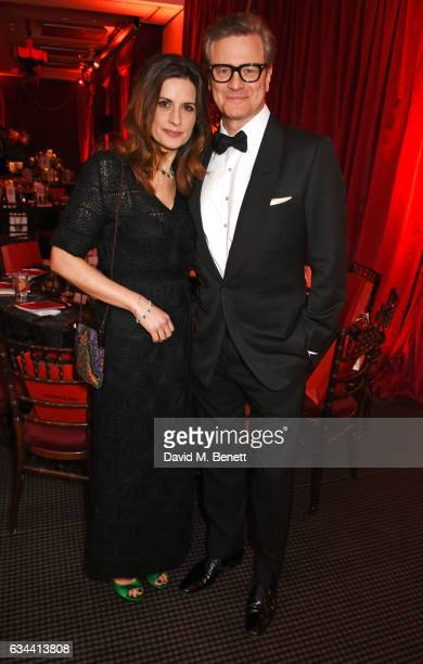 Livia Firth and Colin Firth attend the BAFTA 2017 Film Gala Dinner at BAFTA Piccadilly on February 9 2017 in London England