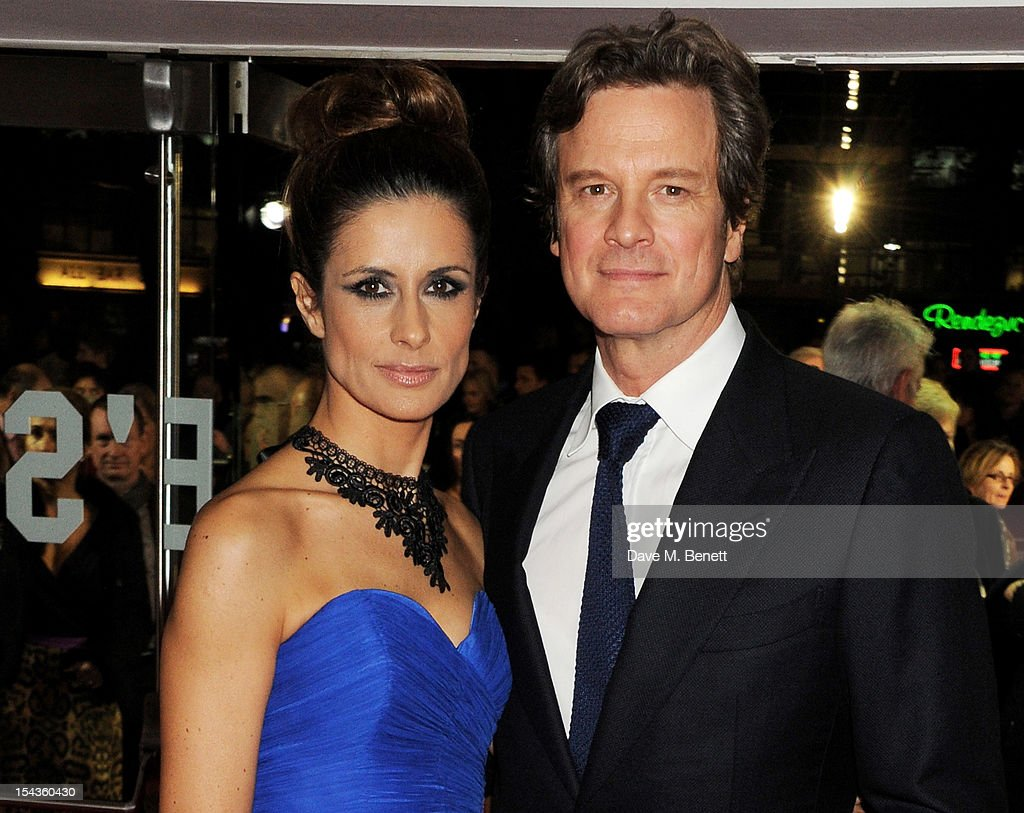 Livia Firth (L) and <a gi-track='captionPersonalityLinkClicked' href=/galleries/search?phrase=Colin+Firth&family=editorial&specificpeople=201620 ng-click='$event.stopPropagation()'>Colin Firth</a> attend the Gala Premiere of 'Crossfire Hurricane' during the 56th BFI London Film Festival at Odeon Leicester Square on October 18, 2012 in London, England.