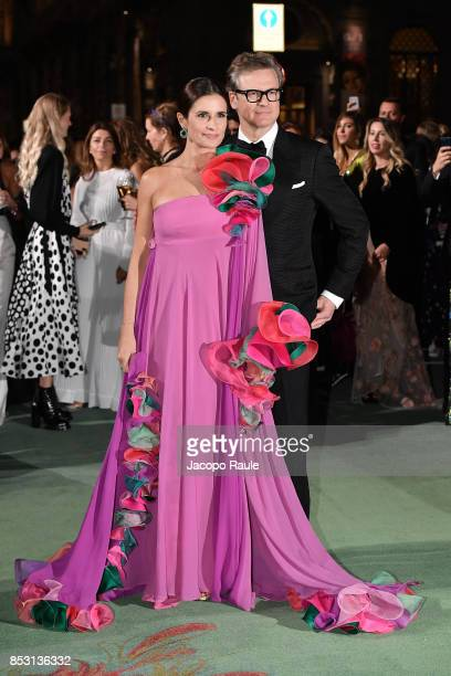 Livia Firth and Colin Firth attend the Green Carpet Fashion Awards Italia 2017 during Milan Fashion Week Spring/Summer 2018 on September 24 2017 in...